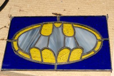Stained glass batman logo